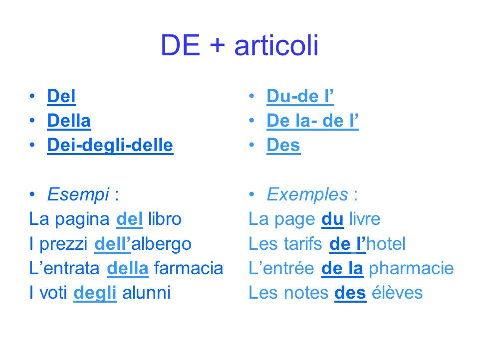 DE + articoli Del Della Dei-degli-delle Esempi : La pagina del libro