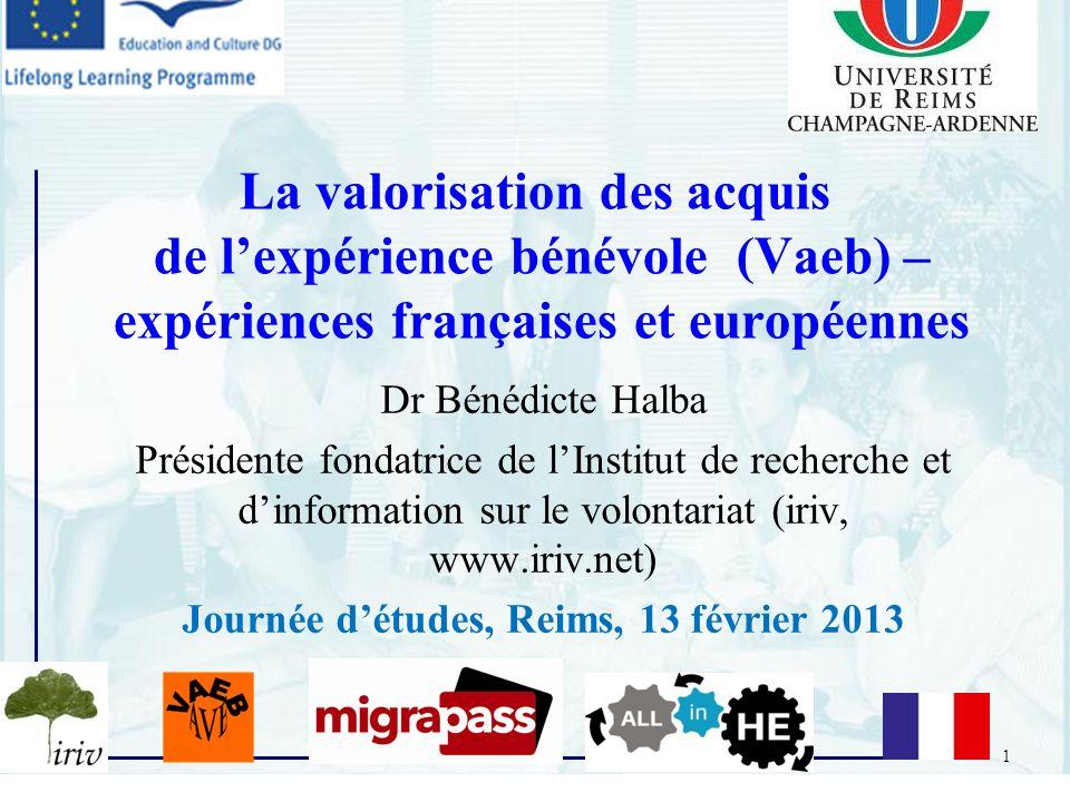 Journée d'études, Reims, 13 février 2013
