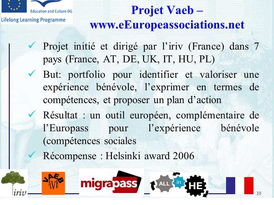 Projet Vaeb – www.eEuropeassociations.net