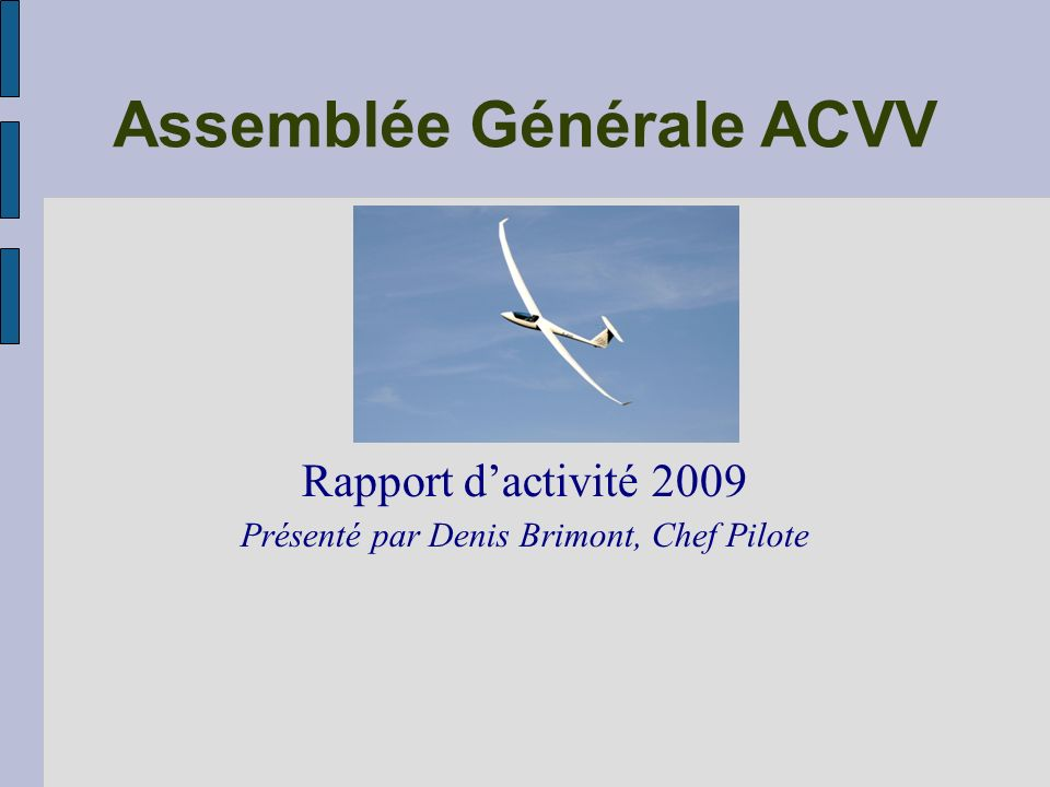 Assemblée Générale ACVV