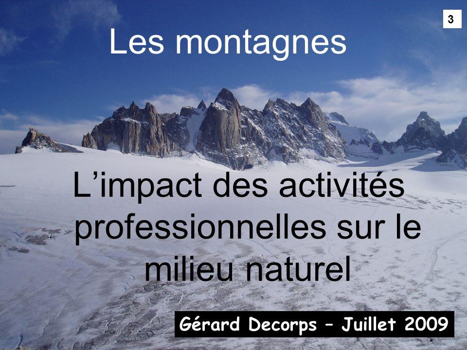 L'impact des activités professionnelles sur le milieu naturel