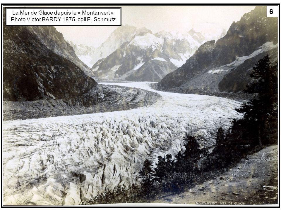 6 La Mer de Glace depuis le « Montanvert » Photo Victor BARDY 1875, coll E. Schmutz