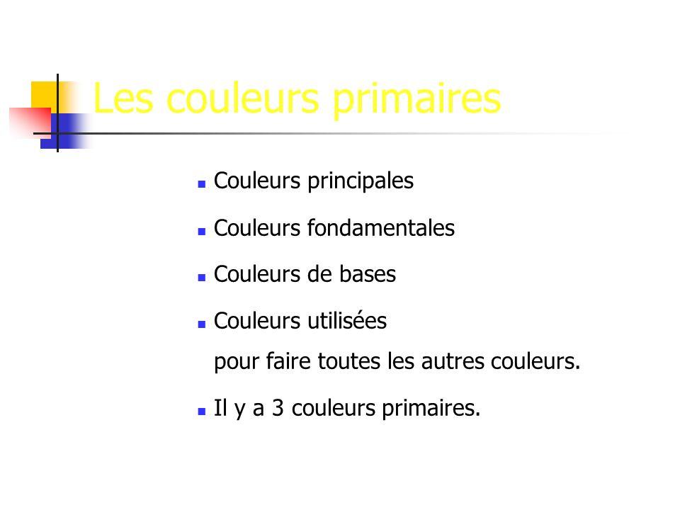 Les couleurs primaires