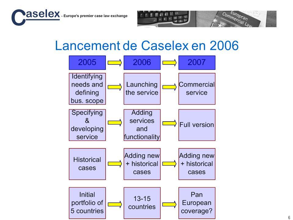 Lancement de Caselex en 2006