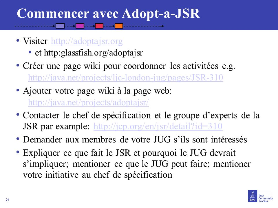 Commencer avec Adopt-a-JSR