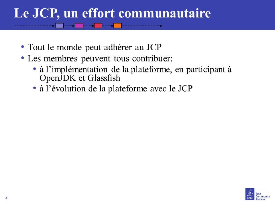 Le JCP, un effort communautaire