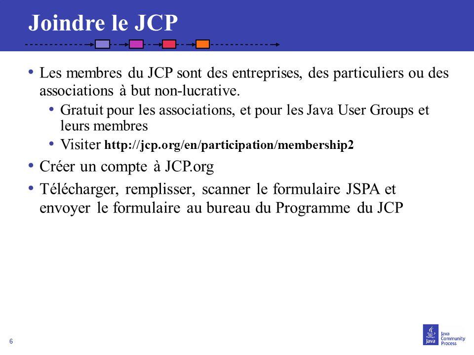 Joindre le JCP Créer un compte à JCP.org