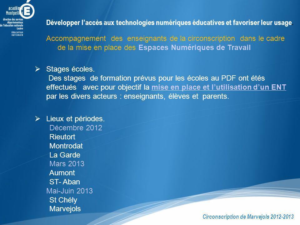 Développer l'accès aux technologies numériques éducatives et favoriser leur usage.