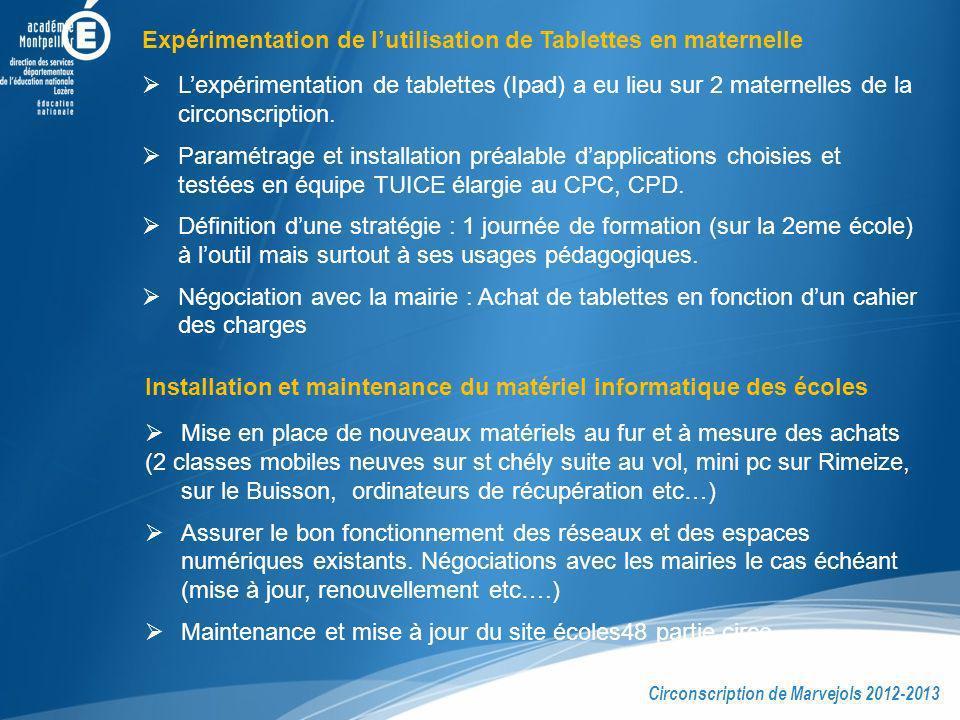 Expérimentation de l'utilisation de Tablettes en maternelle