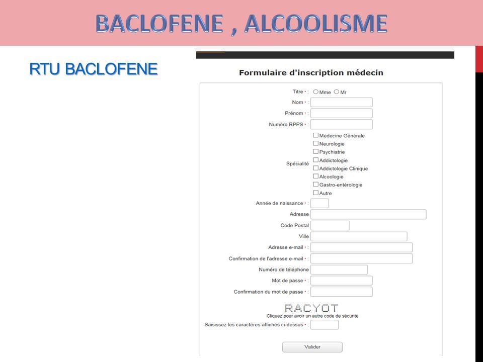 Baclofène contre l'alcoolisme : violent retour de …