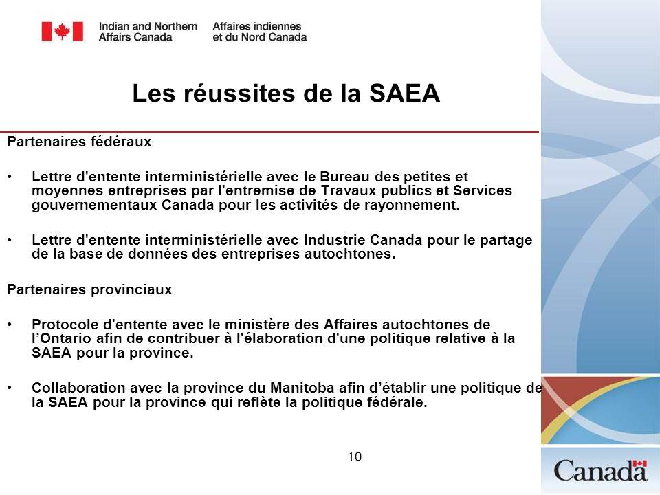 Les réussites de la SAEA