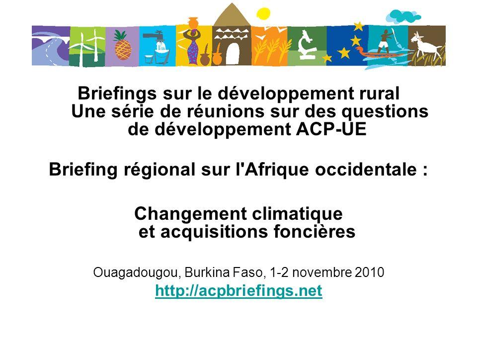 Briefing régional sur l Afrique occidentale :