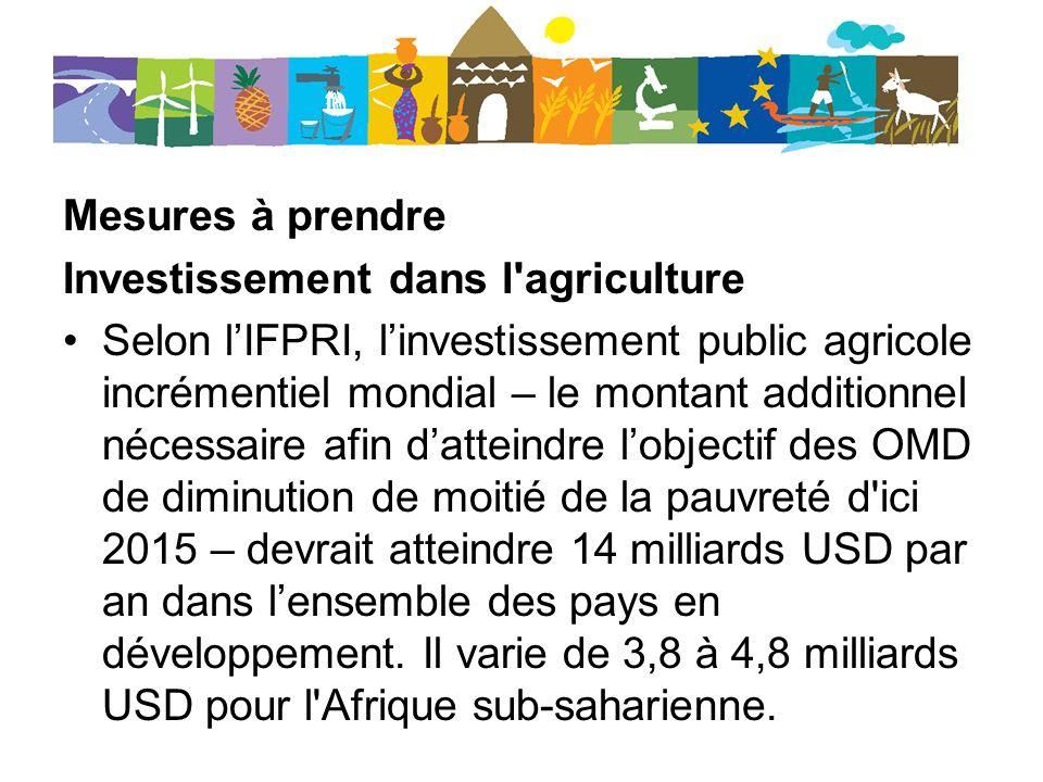 Investissement dans l agriculture