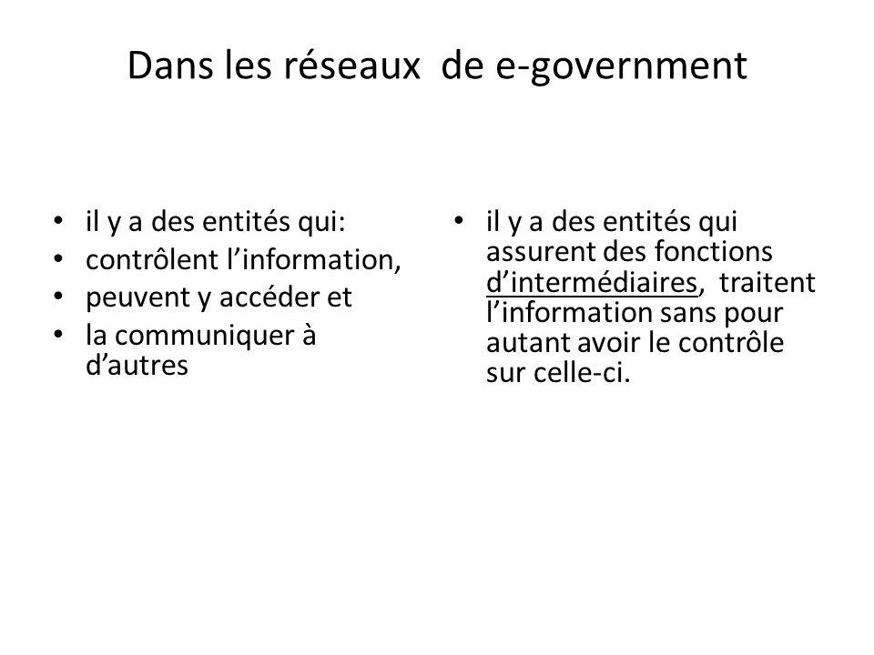Dans les réseaux de e-government
