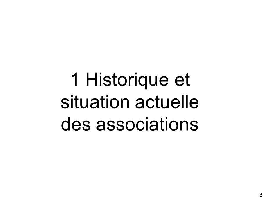 1 Historique et situation actuelle des associations