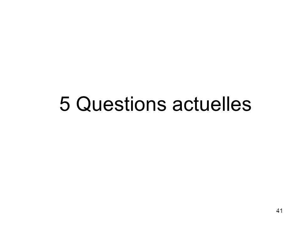 5 Questions actuelles