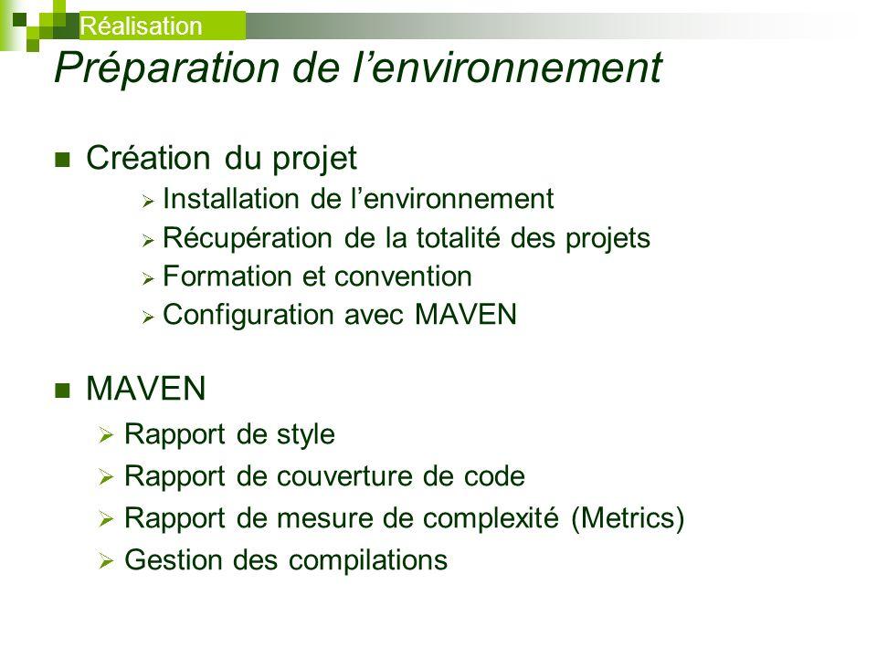 Préparation de l'environnement
