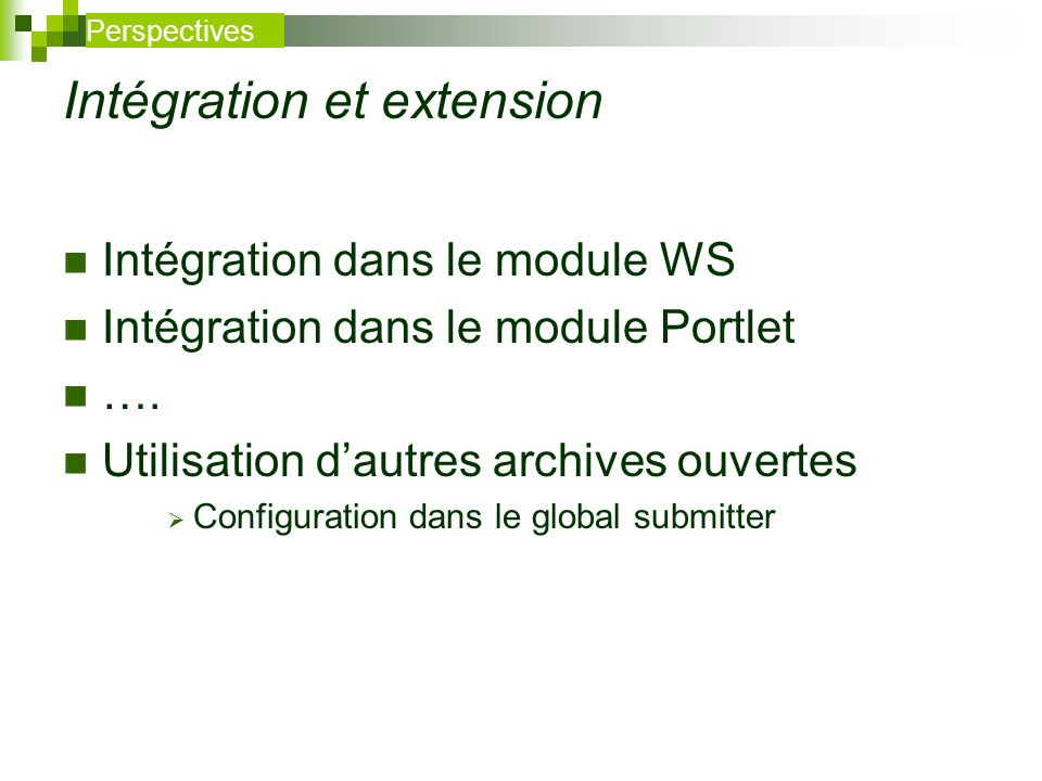 Intégration et extension