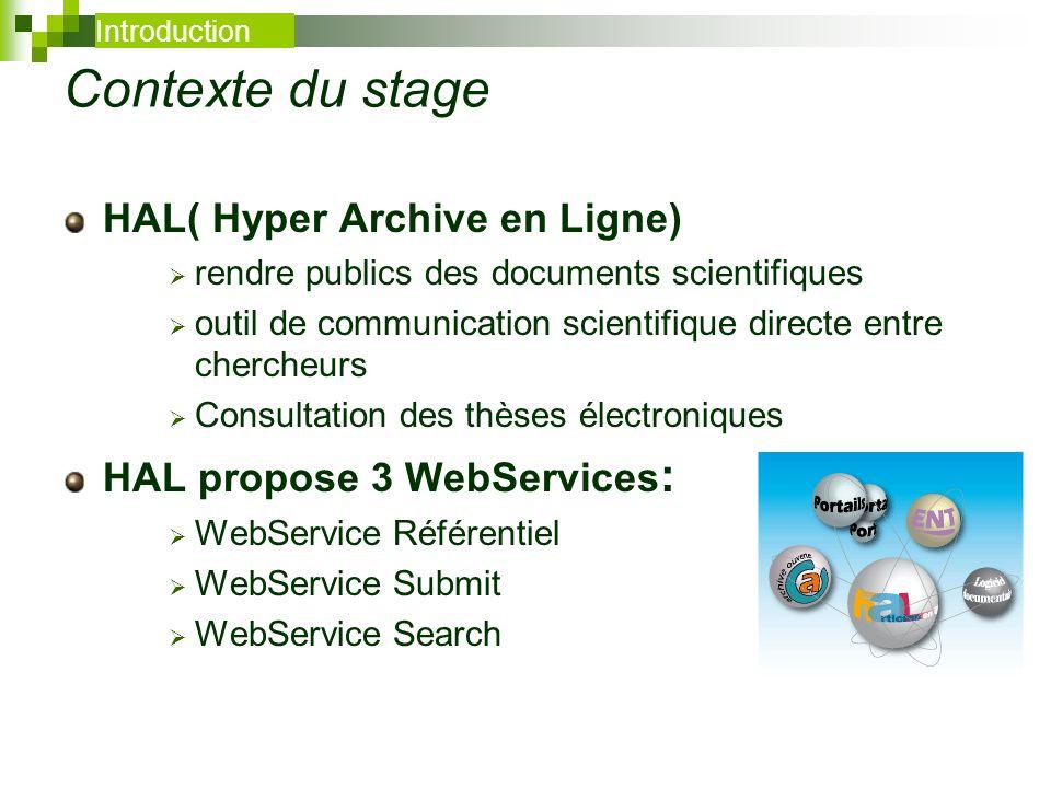 Contexte du stage HAL( Hyper Archive en Ligne)