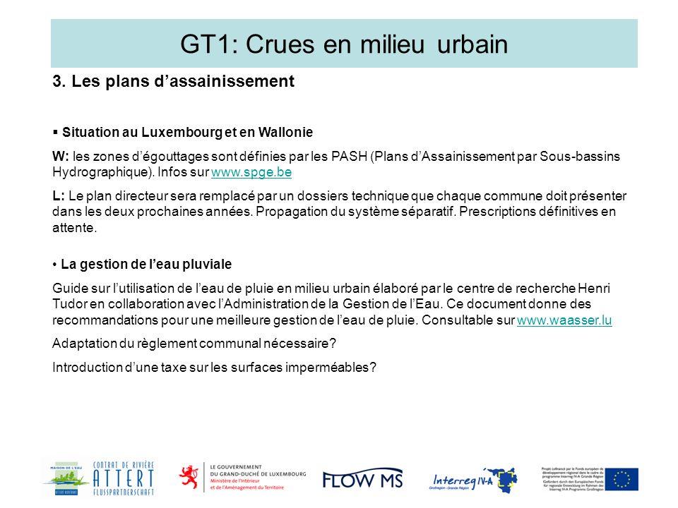 GT1: Crues en milieu urbain