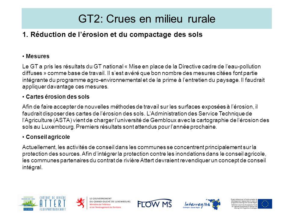 GT2: Crues en milieu rurale