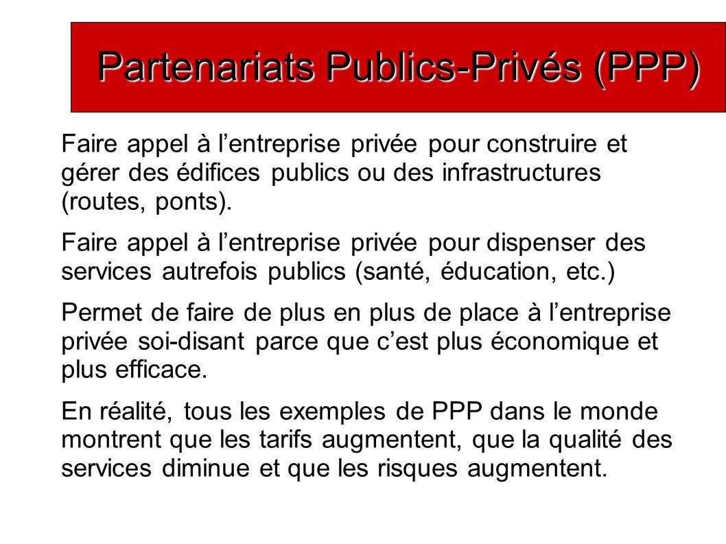 Partenariats Publics-Privés (PPP)