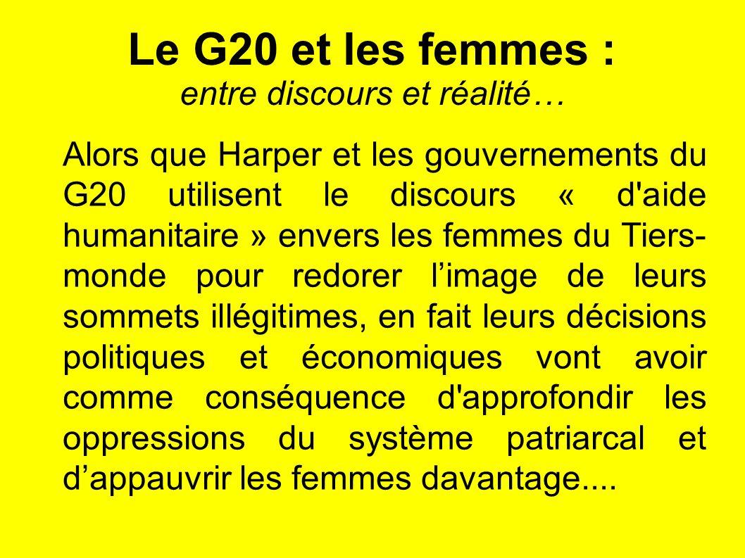 Le G20 et les femmes : entre discours et réalité…
