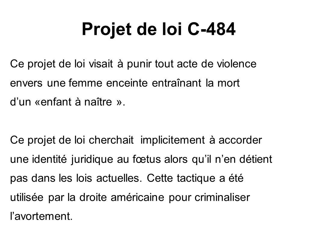 Projet de loi C-484