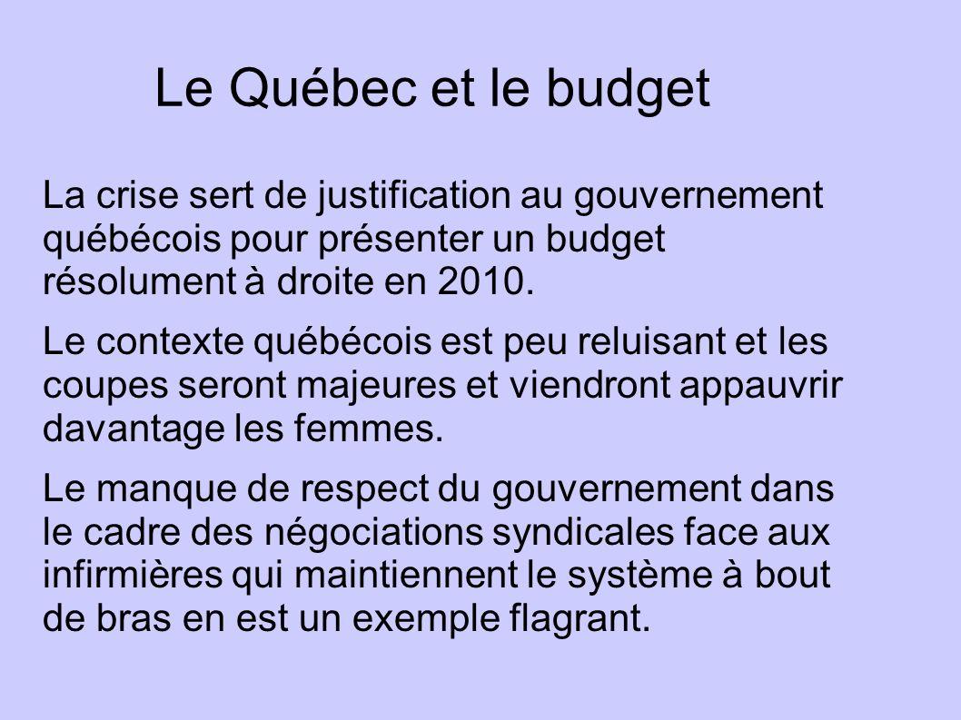 Le Québec et le budget