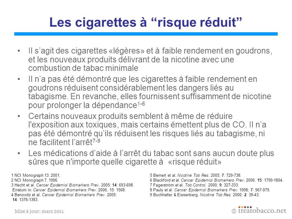 Les cigarettes à risque réduit