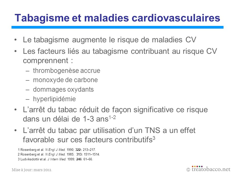 Tabagisme et maladies cardiovasculaires