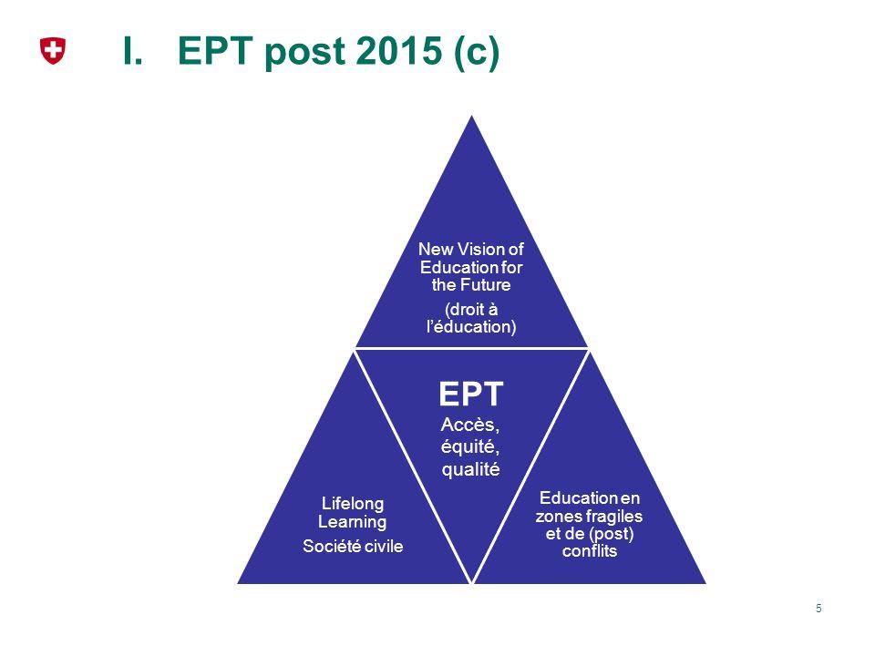 EPT post 2015 (c) EPT Accès, équité, qualité EPT reste au centre
