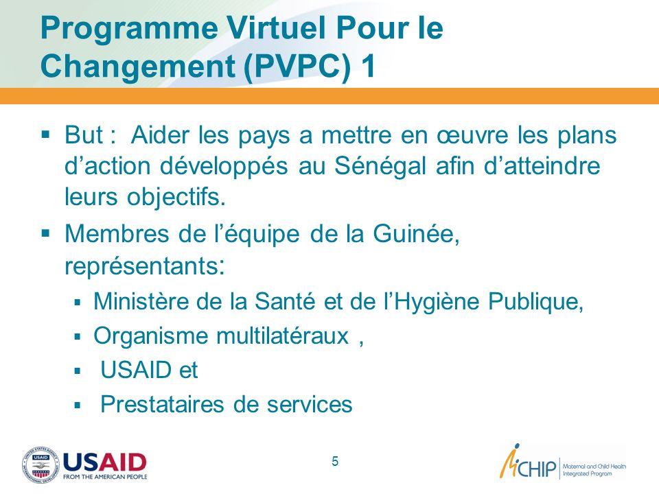 Programme Virtuel Pour le Changement (PVPC) 1