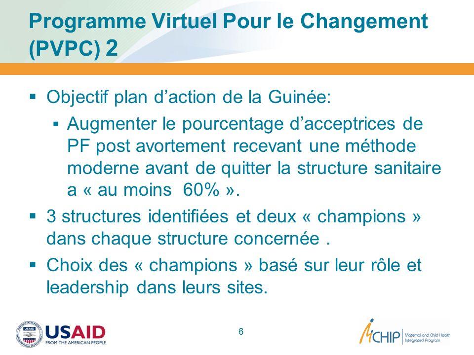 Programme Virtuel Pour le Changement (PVPC) 2