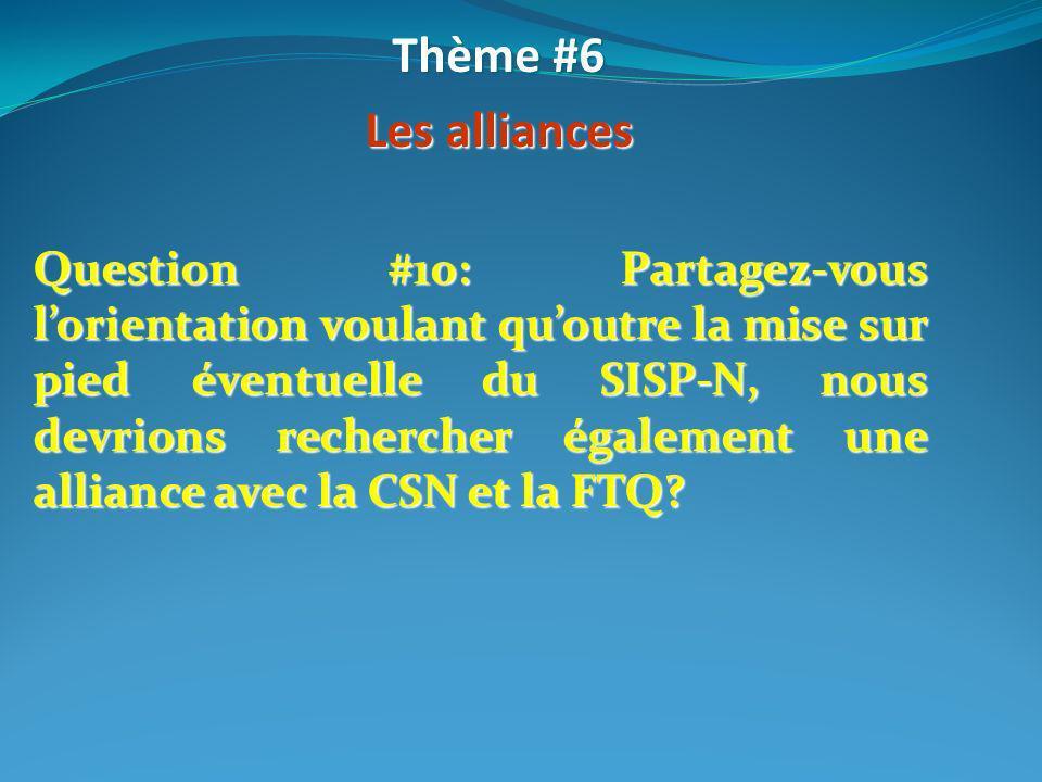 Thème #6 Les alliances.