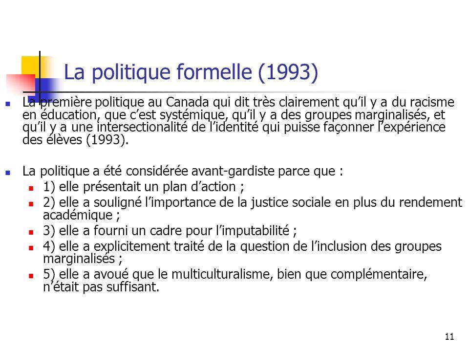 La politique formelle (1993)