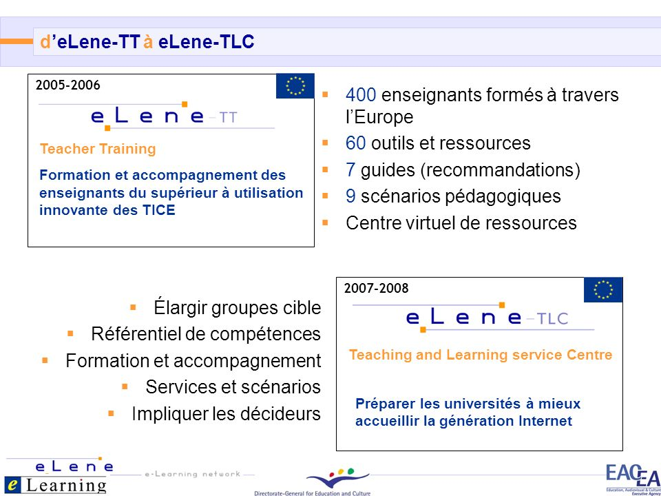 d'eLene-TT à eLene-TLC