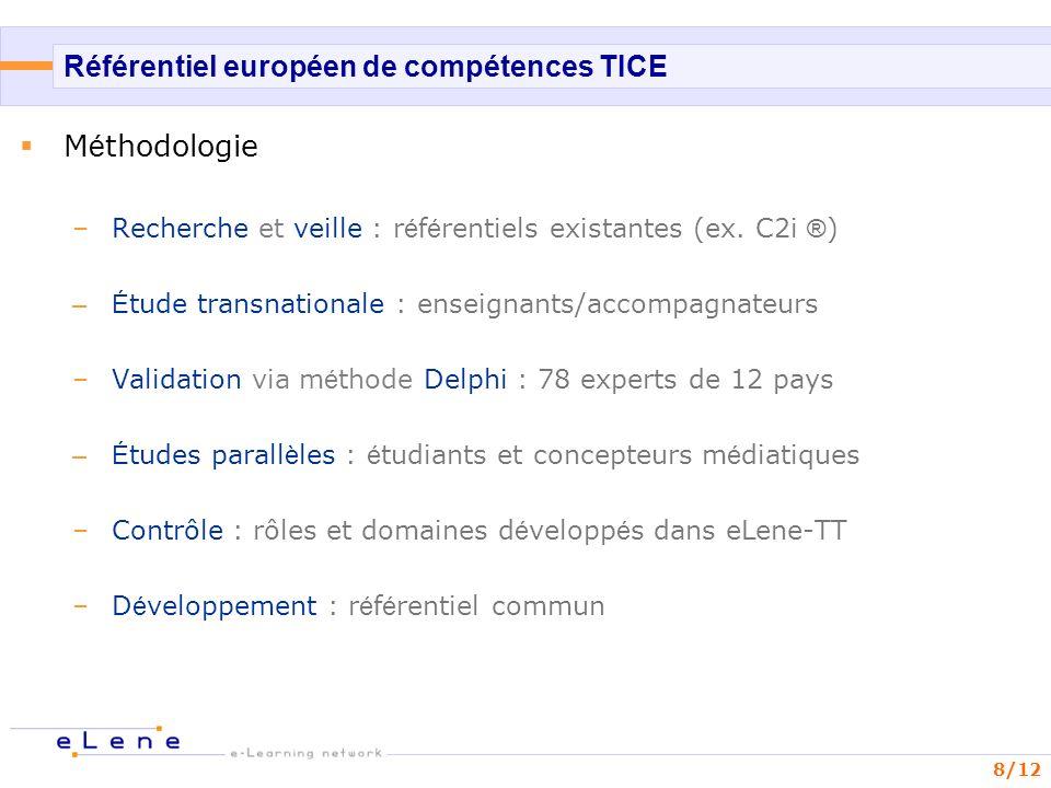 Référentiel européen de compétences TICE