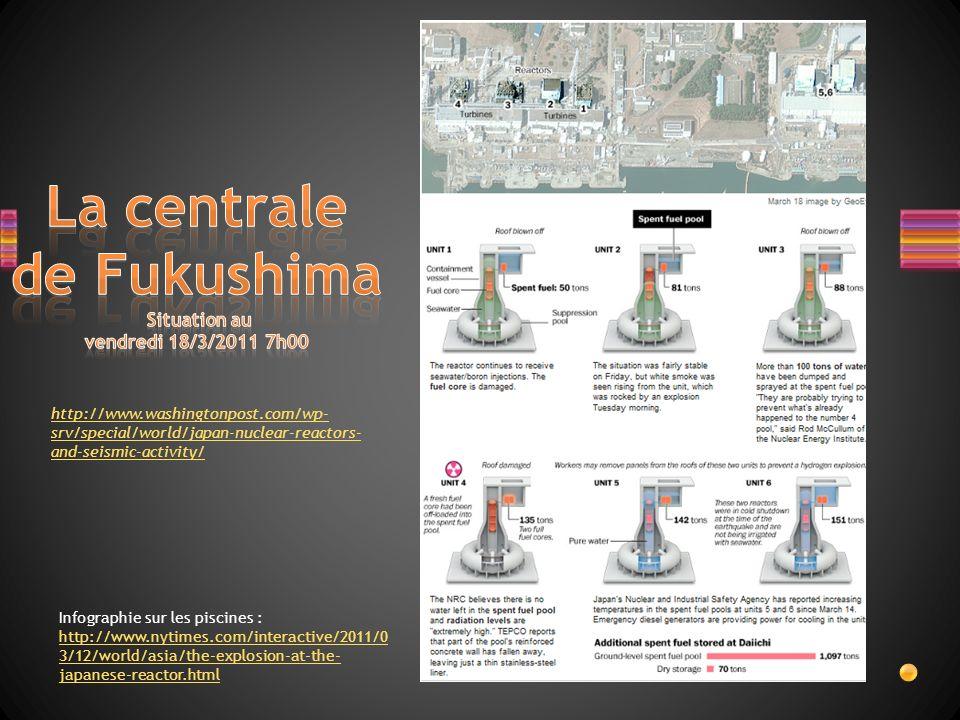 La centrale de Fukushima Situation au vendredi 18/3/2011 7h00