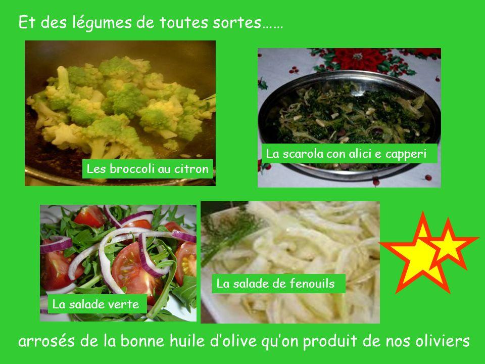 Et des légumes de toutes sortes……