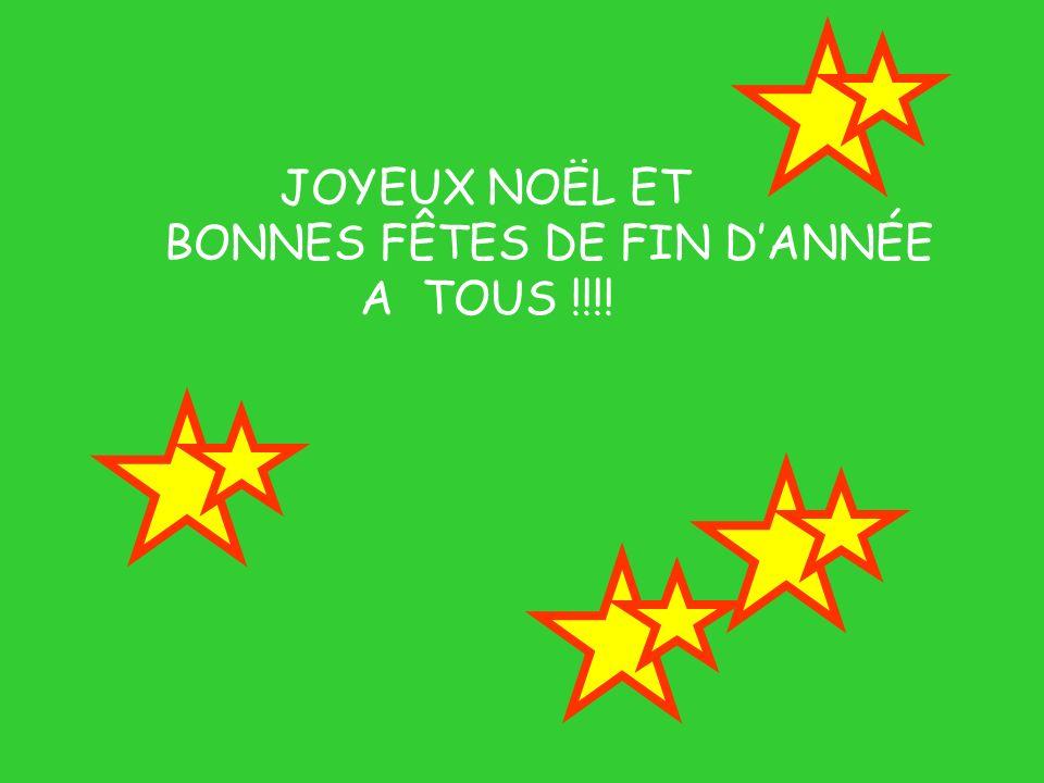 BONNES FÊTES DE FIN D'ANNÉE A TOUS !!!!