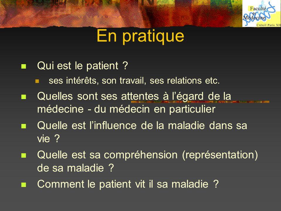 En pratique Qui est le patient