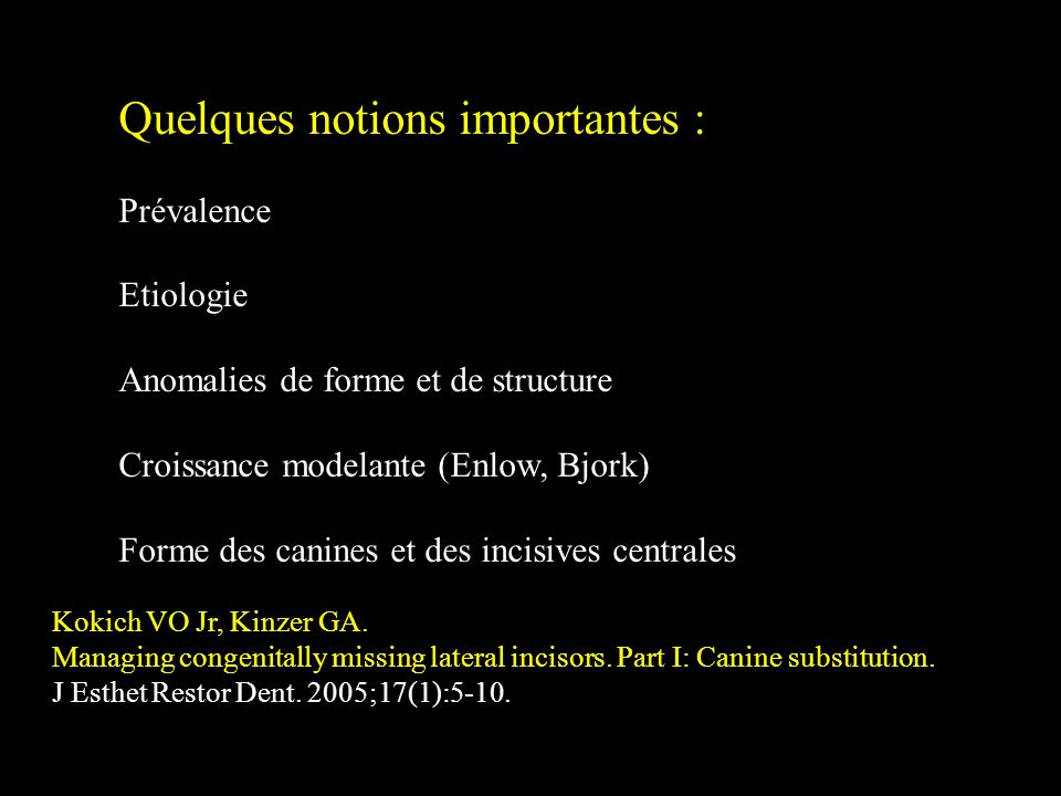 Quelques notions importantes :