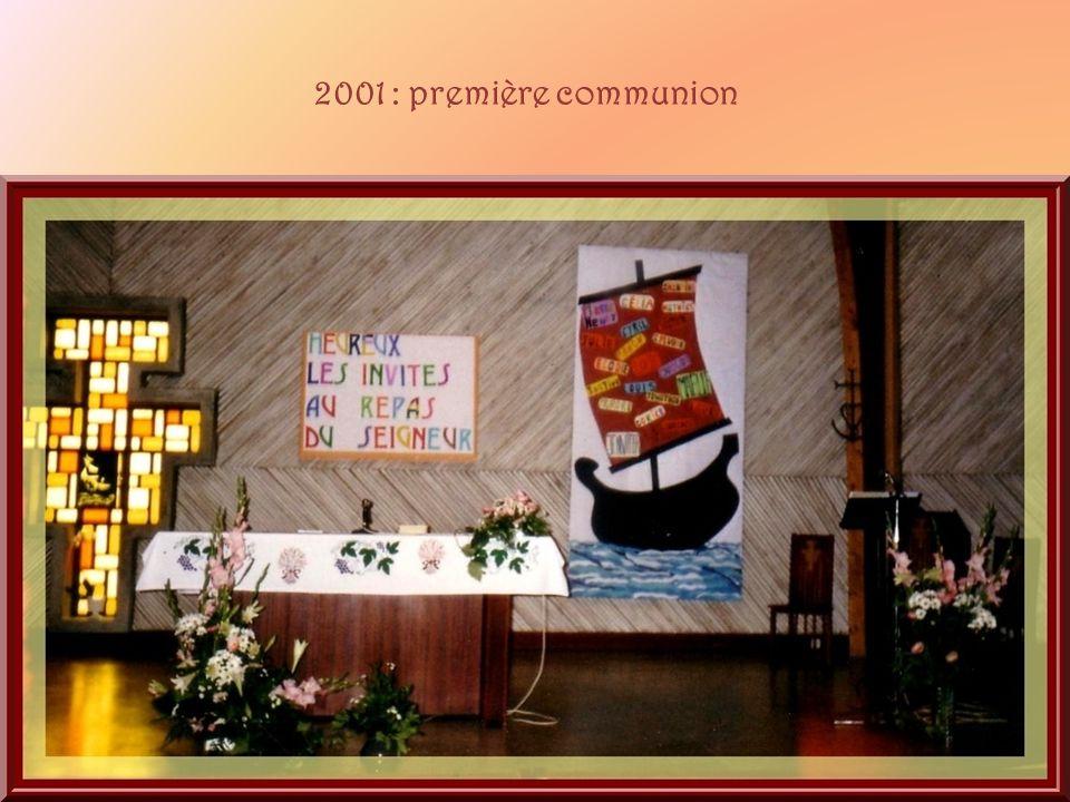 2001 : première communion