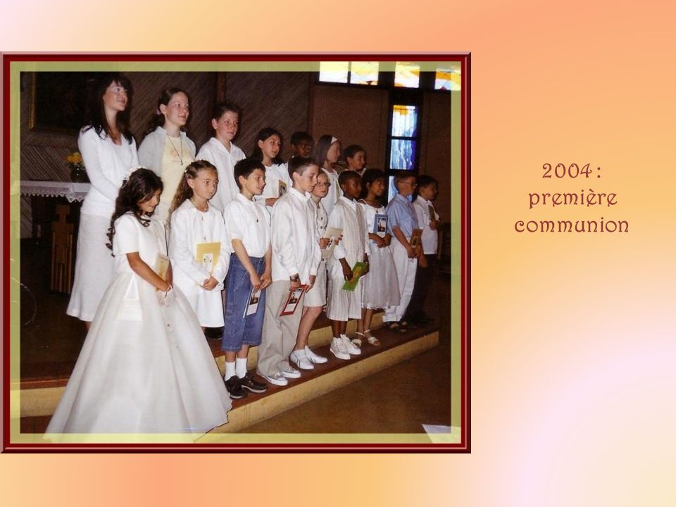 2004 : première communion