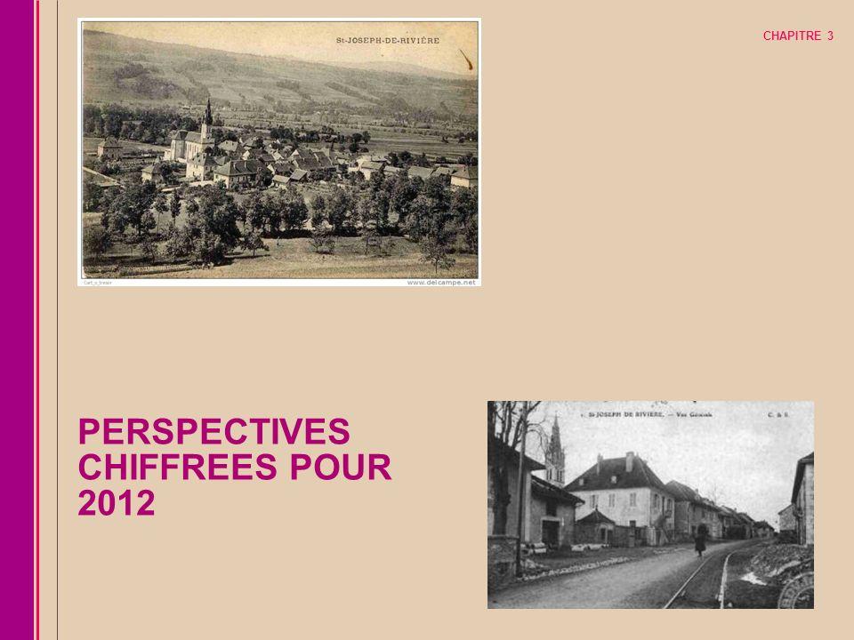 CHAPITRE 3 PERSPECTIVES CHIFFREES POUR 2012