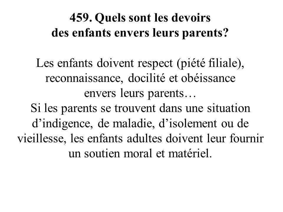 des enfants envers leurs parents