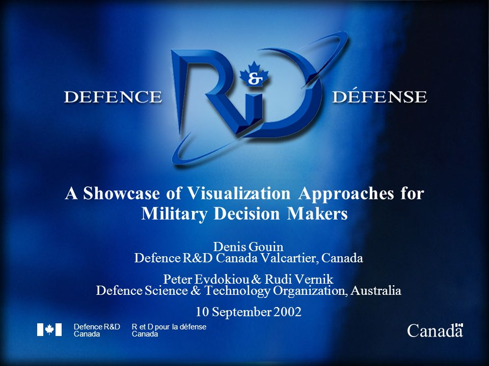 A Showcase of Visualization Approaches for Military Decision Makers