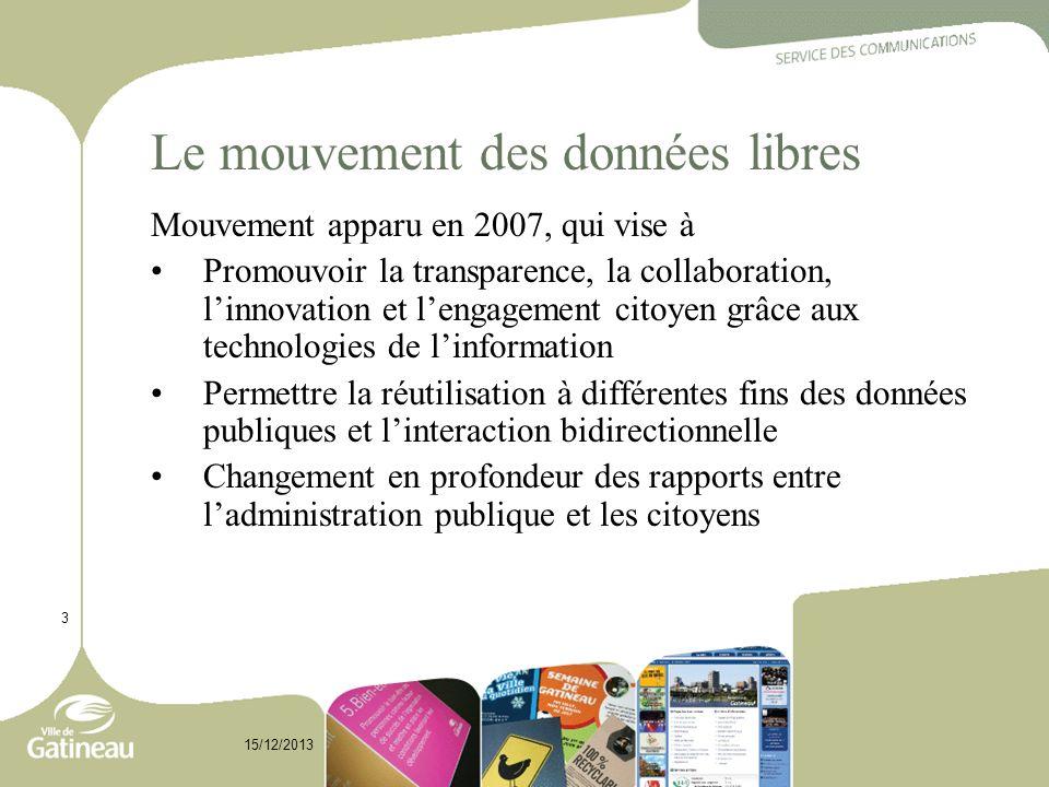 Le mouvement des données libres