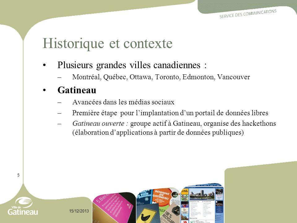 Historique et contexte